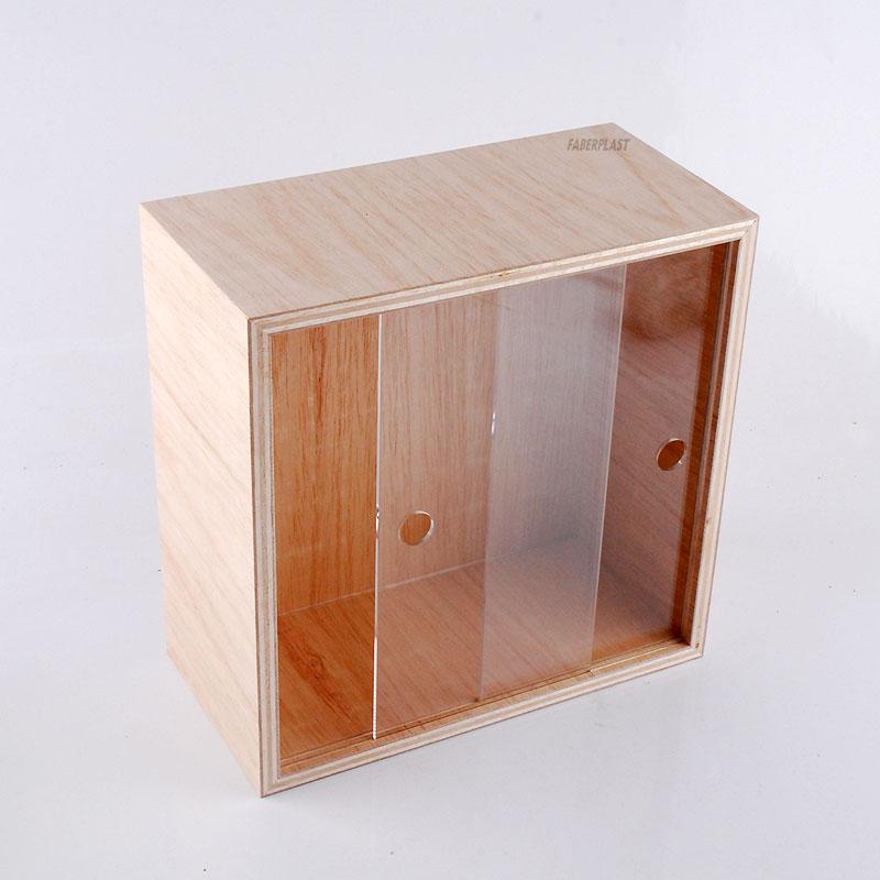 vitrine plexiglas et bois bureau vitrine comptoir. Black Bedroom Furniture Sets. Home Design Ideas