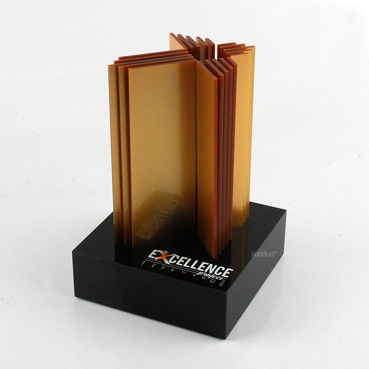 acrylic plexiglas trophy excellence project
