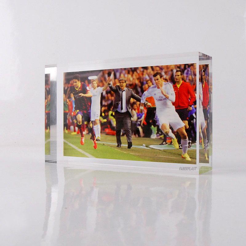 photo imprimee plexiglas real madrid    barca