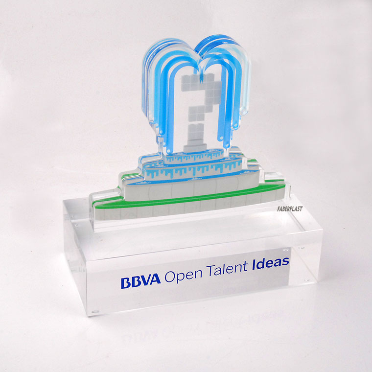trophee plexiglas bbva open talent ideas