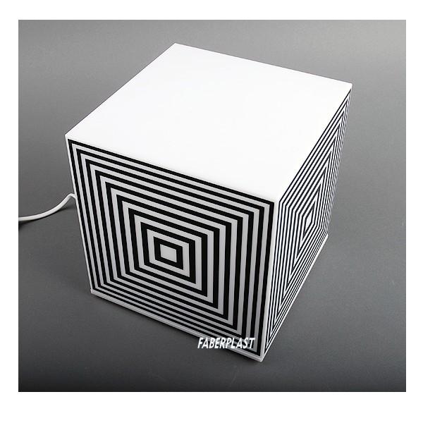 Lampe Cube Plexiglas Blanche