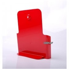PORTE BROCHURE ACRYLIC POLYSTYRENE ROUGE BRILLANCE A4 VERTICAL