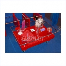 Table Bass Méthacrylate (plexiglas-pmma) Red
