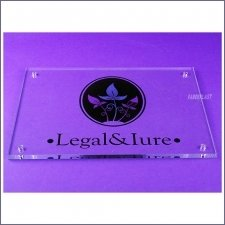 Plaque Plexiglas Legal & Lure