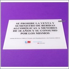 Plaque Plexiglas Salud Madrid