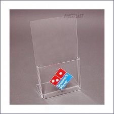 Portebrochures Plexiglass Dominos Pizza