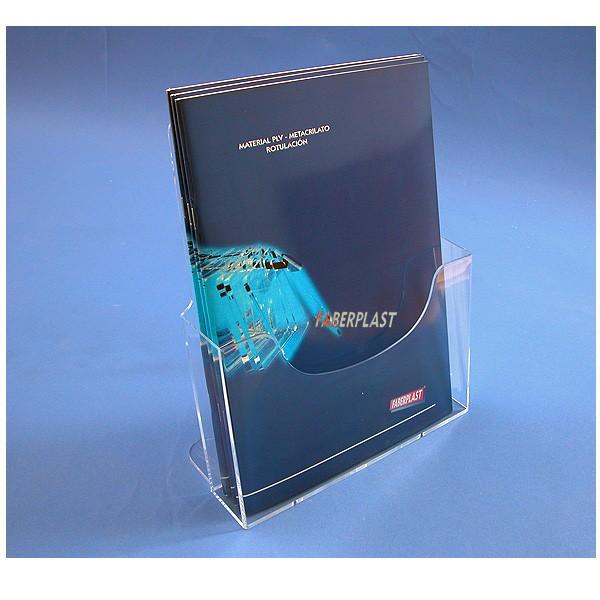 porte brochures a4 vertical portebrochures de comptoir portebrochures methacrylate. Black Bedroom Furniture Sets. Home Design Ideas